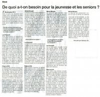 Municipales interview Ouest-France : jeunes - seniors