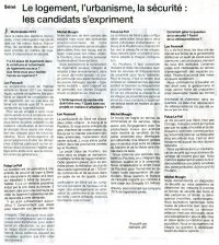 Municipales Interview Ouest-France : urbanisme- sécurité
