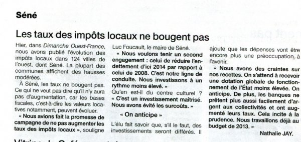 Finances locales : vers plus de sagesse